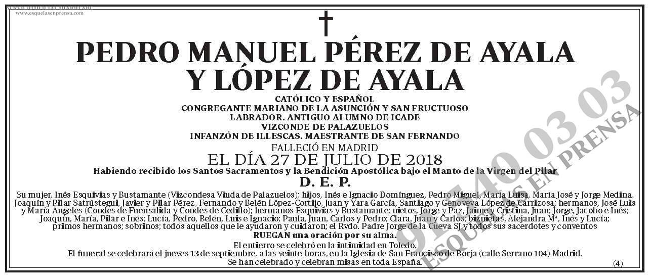 Pedro Manuel Pérez de Ayala y López de Ayala